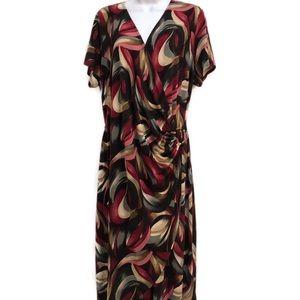 Glamour women's faux wrap dress size 16W